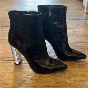 Jessica Simpson Black Patent Leather Boots